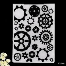 2019 New Arrival Scrapbook Gears Design DIY Paper Scrapbooking Craft/Card Making Decoration Plastic Embossing Folder стоимость