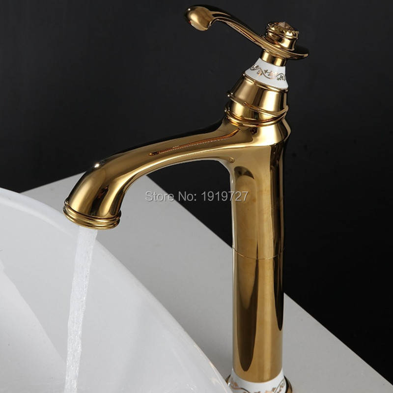 100% High Quality Bathroom Sink Faucet Professional Household Wels Vessel Mixer Tap In Golden Chrome White ORB Oil Rubbed Bronze