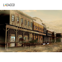 Laeacco Western Cowboy Tavern Carriage Photography Backgrounds Customized Photographic Backdrops For Photo Studio