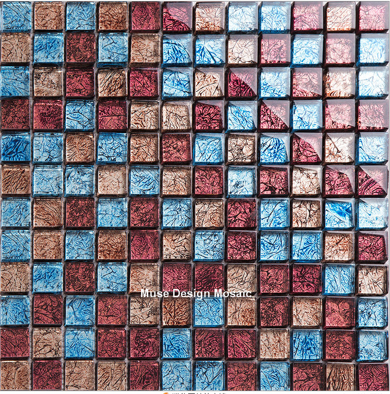 Retro Vintage Gold Rot Blau Folie Glas Mosaik Fliesen Design Kamin Küche  Backsplash Wandaufkleber DIY Gebäude Materialien In Retro Vintage Gold Rot  Blau ... Good Ideas