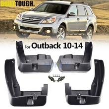 Accessories 4pcs/Set Fit For Subaru Outback 2010 2011 2012 2013 2014 Mud Flap Flaps Splash Guard Mudguard