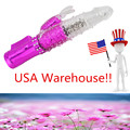 USA Warehouse !  USB Rechargeable G-spot Sex Waterproof Toy Masturbate Thrusting Dildo Rabbit Massager Multispeed vibrator