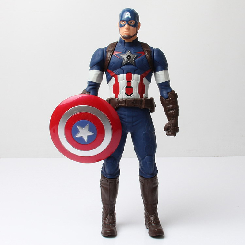 Brand New <font><b>Marvel</b></font> Avengers Assemble <font><b>Titan</b></font> <font><b>Hero</b></font> <font><b>Series</b></font> Captain America Action Figure Doll Toys 29cm With Original Box