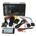 Bluetooth 7 Polegada Duplo 2Din No Painel Do Carro Jogador MP5 Tela de Toque Rádio FM Estéreo USB 87.5 MHz ~ 108.00 MHz