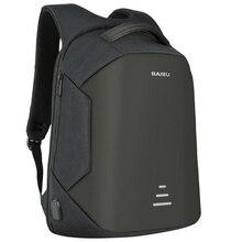 BAIBU 15,6 zoll Männer Laptop Rucksack Anti warnung Externe USB Ladung Wasserdichte Multifunktions Computer Reisetasche Rucksack