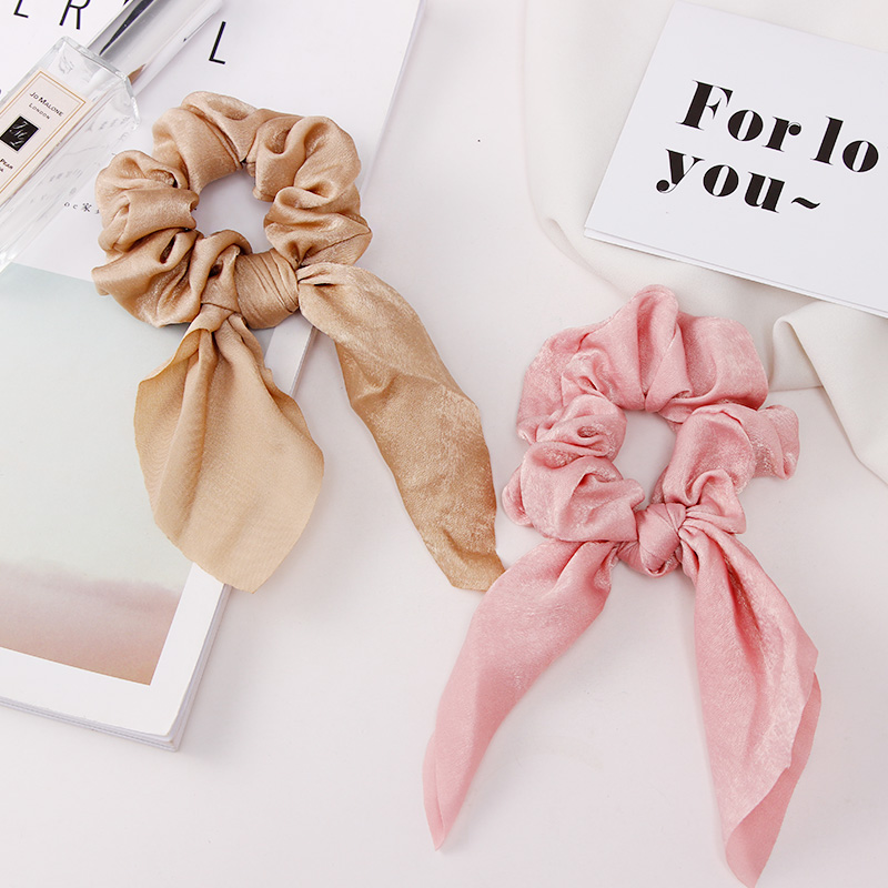 2019 New Summer Colorful Chiffon Knot Bow Elastic Hair Bands Ponytail Holder Scrunchie Rubber Bands Fashion Hair Accessories