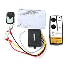 Universal 12 V Inalámbrico Interruptor de Control Remoto Del Cabrestante Unidad Controlador Clave Fob Para El Carro ATV SUV Winch Favorable