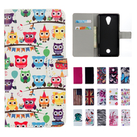 Wiko Tommy Case Cover Wallet Painted Cartoon PU Leather Soft Silicon Stand Flip Cell Phone Cases