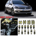 10 x Error Free White Interior LED Light Package Kit for VW MK7 GOLF 7 accessories reading door lights 2013-2015