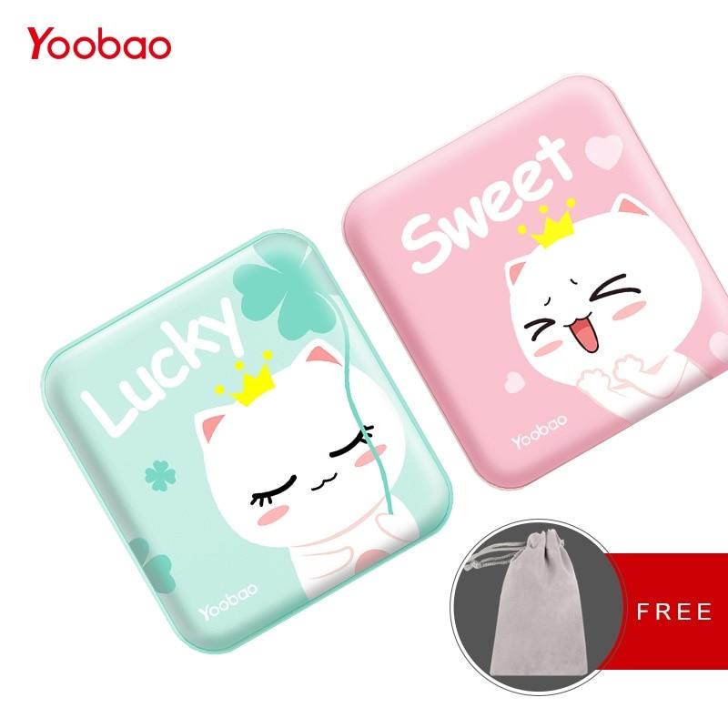 Yoobao lindo PowerBank 10000 MAH para Xiaomi Redmi Mi Power Bank cargador portátil 10000 mAh PoverBank para el iPhone 7 6 más 5 4 teléfono