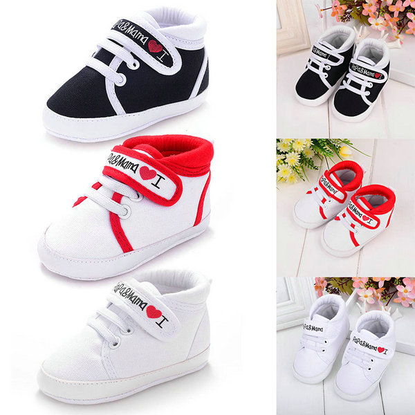 2c7fd8642d8e Baby Infant Kids Boy Girl Soft Sole Canvas Sneaker Toddler Newborn Shoes 0  18 Month-in First Walkers from Mother   Kids on Aliexpress.com