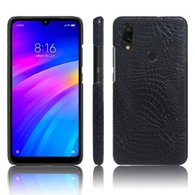 luxury leather+PC crocodile pattern back cover case for  Xiaomi Redmi 4X 5 5a 6 6A 7 note 3 4 phone cases