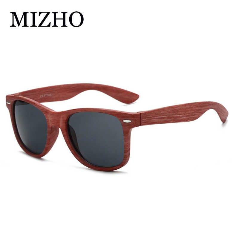 MIZHO портативные Винтажные Солнцезащитные очки с имитацией древесины, мужские очки с модифицированным лицом, мужские очки UV400