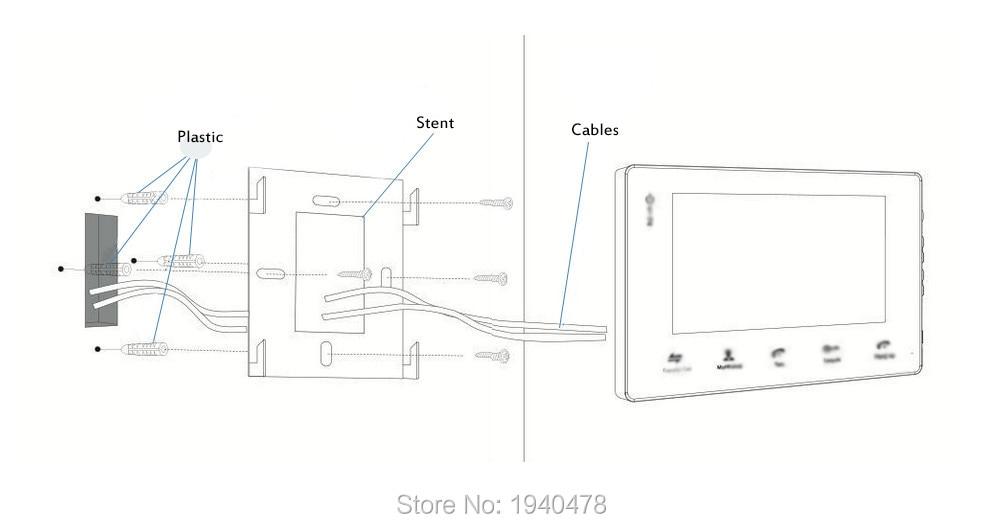 Homefong 7 wired night visual video door phone doorbell intercom installation diagram video door phone doorbell cheapraybanclubmaster Images