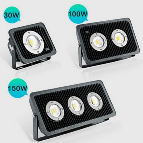 New 30W 50W 70W100W150W LED flood light 85V-265V Warm White Cool White Waterproof Spotlight Floodlight Outdoor Lighting