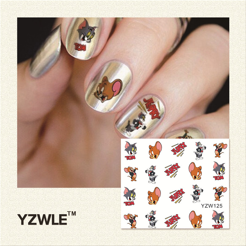 YWK 1 Piece Hot Sale Water Transfer Nails Art Sticker Manicure Decor ...