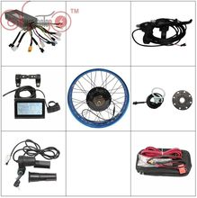 "Free Shipping ConhisMotor EBike 36V 48V 1000w Fat Tire Rear Wheel 20"" 24"" 26"" Conversion Kits 175mm 190mm Electric Bicycle LCD3(China)"