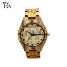 TJW High Quality Bamboo Wood Watch For Men And Women Retro Rome Dial Quartz Analog Casual Watch gift watch men wooden wristwatch