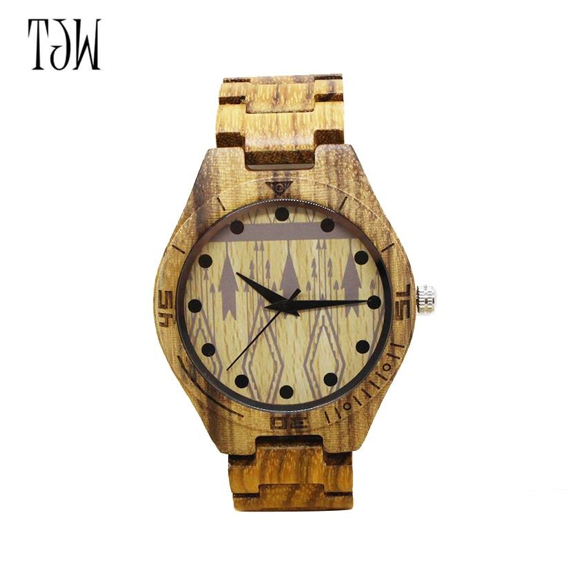TJW kiváló minőségű bambuszfa óra férfi és női ajándékóra - Férfi órák