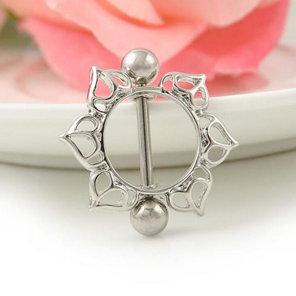 Sexy Flower Nipple Rings Piercing Body Jewelry Stainless -9209