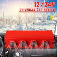 Protable Car Heater 12V/24V Low Noise Windscreen Window Driving Defroster Demister for RV Motorhome Trailer Trucks Boats