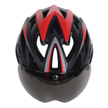 MOON Magnetic Goggles Bicycle Helmet In-mold Cycling Helmet With Lens Ultralight Casco Ciclismo Bike Helmet 55-61 CM 3 Colors