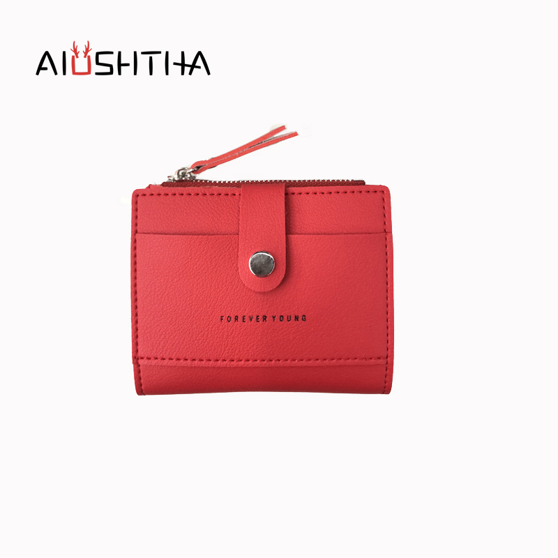 letters card holder women coin purses and wallets for girls small mini credit card photo money bag new arrival red forever young полукомбинезон