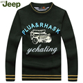 Spring&Autumn Jeep Casual Men's Pullovers Sweater 2016 Hot Sale Men's Sweater O-neck Slim Fashion Printed Knitted Sweater  95