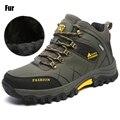 New Men Fur Winter Snow Boots Hike Non-Slip Men Climbing Breathable Mountain Trial Trekking Shoes Outdoor Waterproof  Footwear