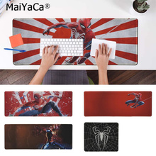MaiYaCa Beautiful Anime Marvel Spiderman Natural Rubber Gaming mousepad Desk Mat Rubber PC Computer Gaming mousepad maiyaca hot sales anime steins gate natural rubber gaming mousepad desk mat large lockedge mousepad laptop pc computer mouse pad