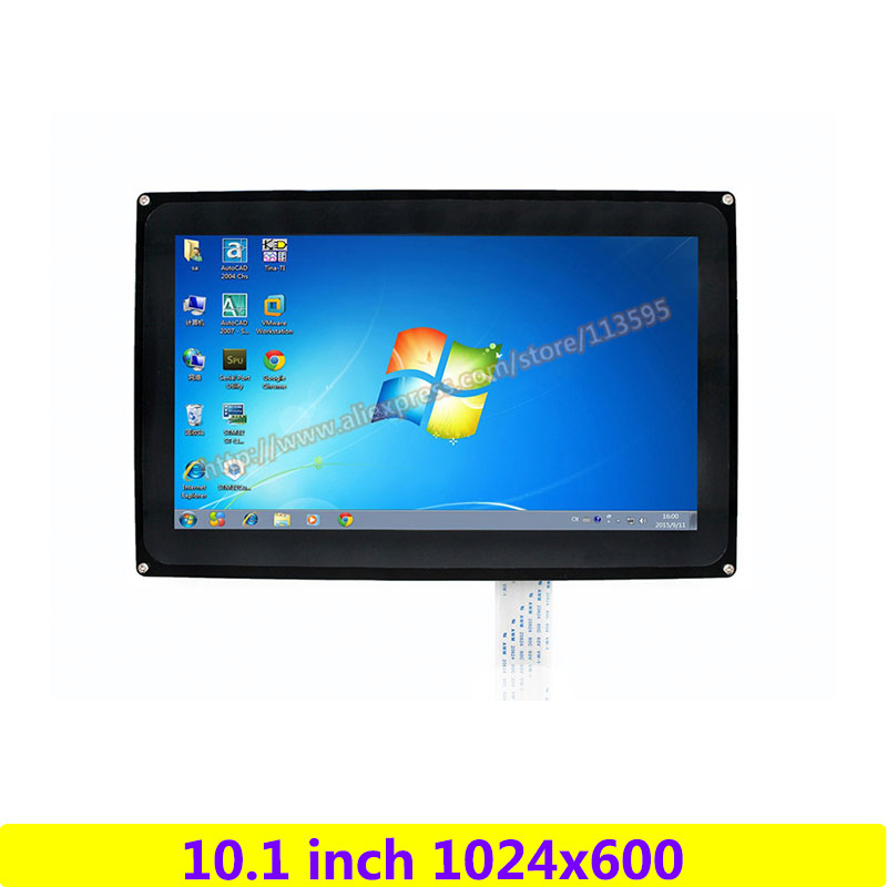 Raspberry Pi 10.1 inch 1024x600 Capacitive Touch Screen LCD(H) Demo drive board Support Multi mini-PCs/Systems/Video Interfaces acv pi 622