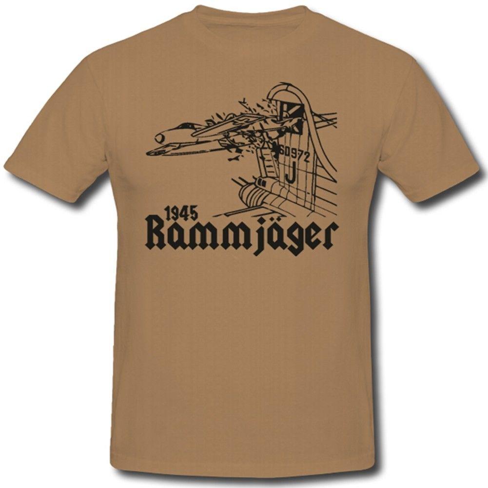 T-Shirt 2019 Fashion Men Hot Sale Men T Shirt Fashion Rammjager Luftwaffe Wk 2 Kamikaze Short Sleeve