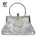 ECOSUSI New 7 Colors Elegant Evening Bag Portable Fashion Evening Party Bag Metal-Snaps PU Women Leather Handbag Free Shipping