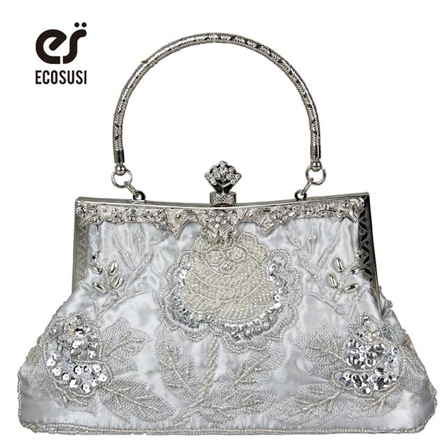 Ecosusi Новый 7 цветов элегантная вечерняя сумочка; BS010 Портативный модные Вечеринка сумка из металла-снимки PU Для женщин кожаная сумочка бесплатная доставка