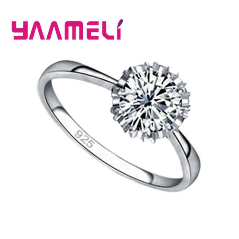 AAA Cubic Zircon 925 Sterling Silver Rings For Women Wedding Engagement Jewelry Fashion Promise Ring Accessory Ringen