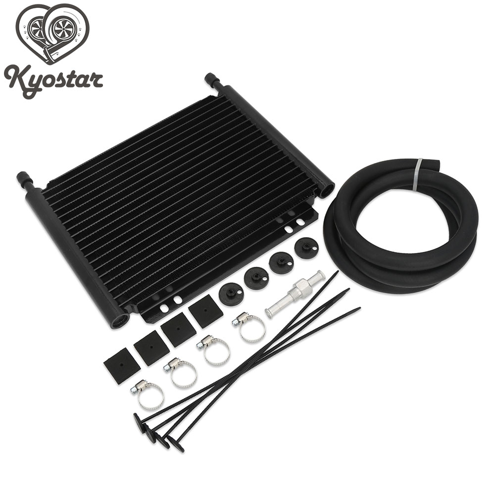 8000 Type Plate&Fin Transmission Oil Cooler Aluminum Transmission Oil Cooler 19Row Automatic Stacked Plate Oil Cooler Radiator brand new oil cooler cover for 4be1 4bc2 4bf1 npr ks22 8 94438 371 0 oil cooler covers