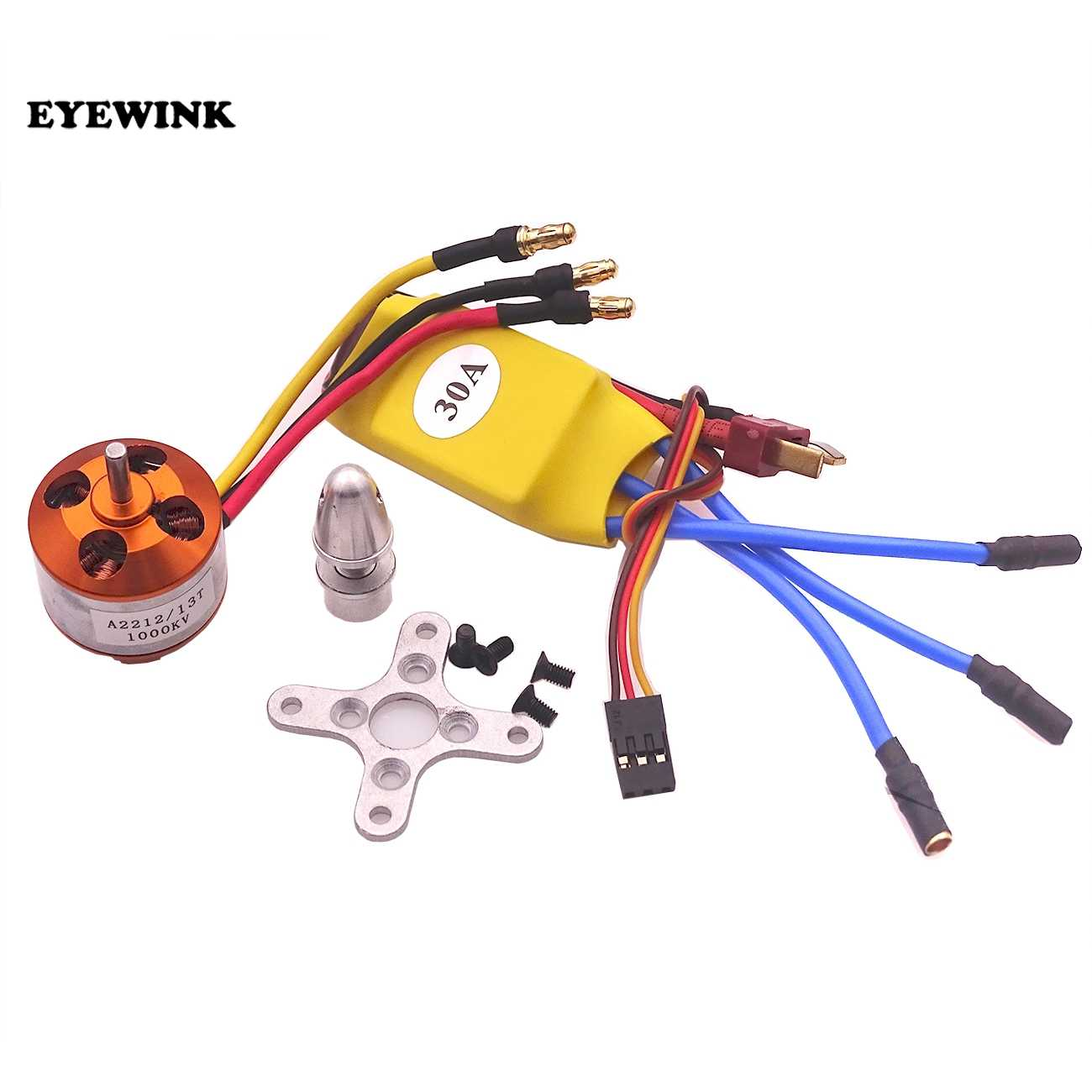 13 T A2212 1000KV Brushless Motor 30A ESC Combo untuk Quadcopter F450 Quadcopter F550 RC Hexacopter 4-Axis Helikopter