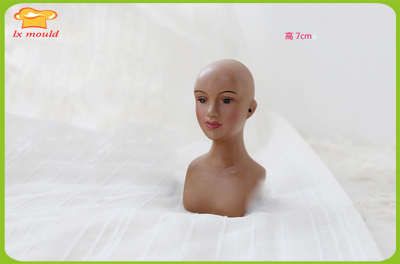 2018 new fondant doll half body mold DIY hand-made soft silicone human body  mold girl head mold