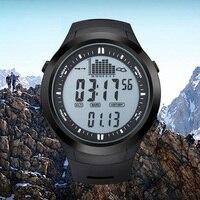 NORTHEDGE Mężczyźni Cyfrowe zegarki zegarek zegar Fishing Termometr Wysokościomierz Barometr pogoda na zewnątrz Wysokości Turystyka Wspinaczka godzin