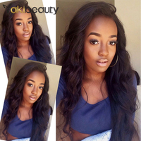 Yakibeauty 150% Density Peruvian Body Wave Human Hair Wigs 4x4 Lace Front Wig Nature Color Remy Hair Pre Plucked Bleached Knots