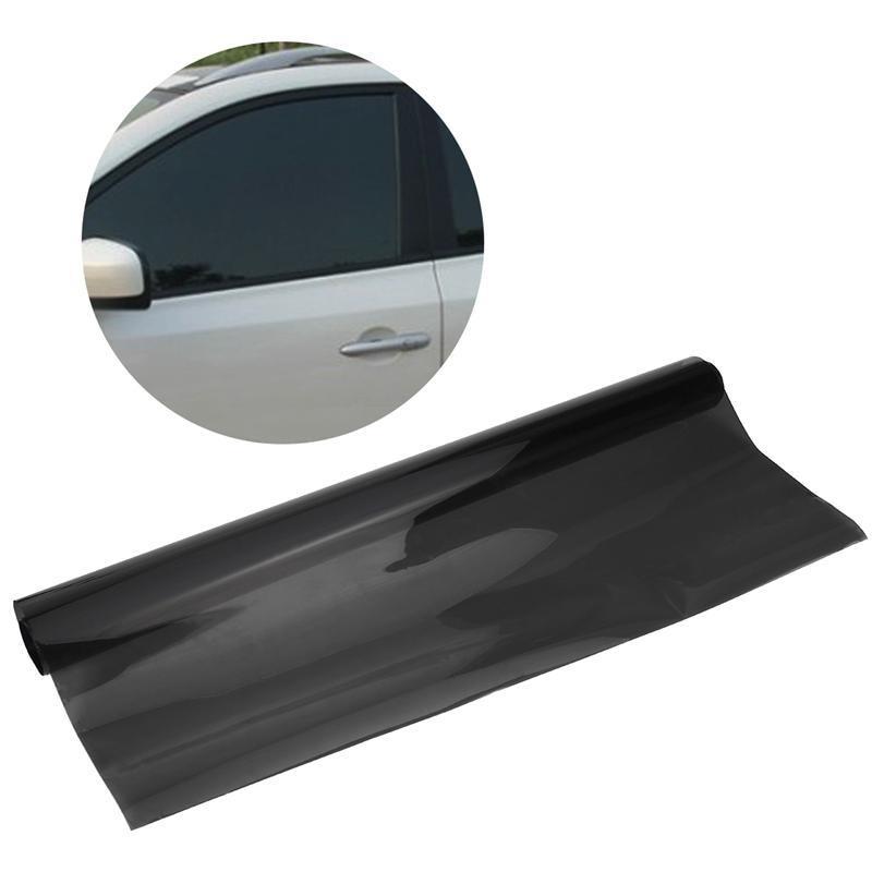 Light Black 75cmx600cm Car Van Window Tint Film Roll Universal Fit for Privacy Sun Solar Car Auto Heat Reduction Protection