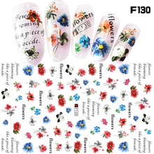 1 Sheet Laser Line Nail Stickers Colorful Flower Stickers of Nail Simple Style Nail Decoration Manicure Nail Art Stickers LDG 1 sheet nail sticker flower butterfly design stickers of nail beauty girl nail decoration manicure nail art stickers ldg