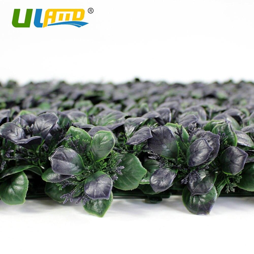 ULAND Künstliche Buchsbaumhecke Kunststoff Dunkle Lila Pflanzen