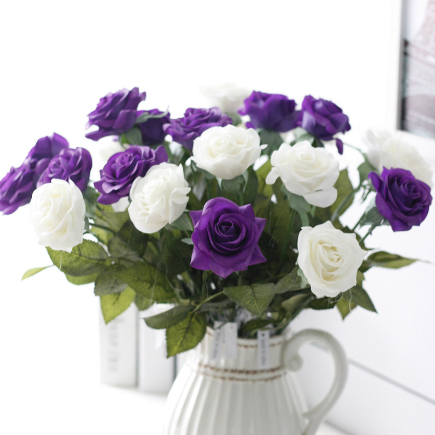 20 Real Touch Flowers Realistic Roses Off Whitewedding