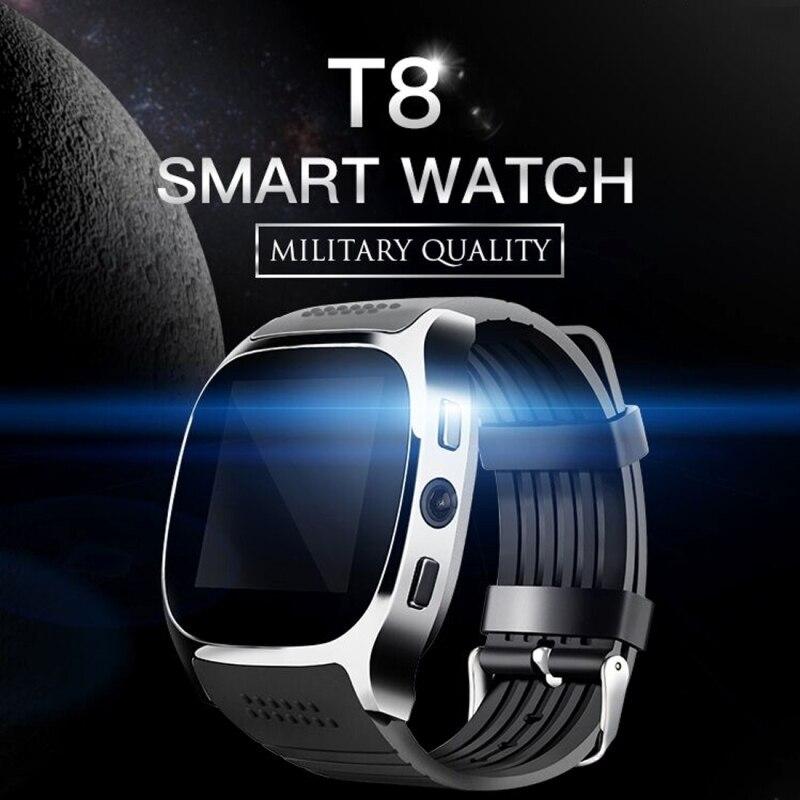 T8 Smart Watch Telefon 1,54 hüvelykes IPS GSM BT V3.0 karóra a pedométerrel MTK6261D Sleep Monitor FM rádió karóra