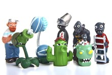 8pcs/lot Plants VS Zombies 7cm PVC Action Figures Toy Set Collection Toys Free Shipping