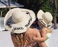 2017 новых женщин соломы лето большой краев fedora индивидуальный блестка письмо вс шляпу ленты пляжной моды hat