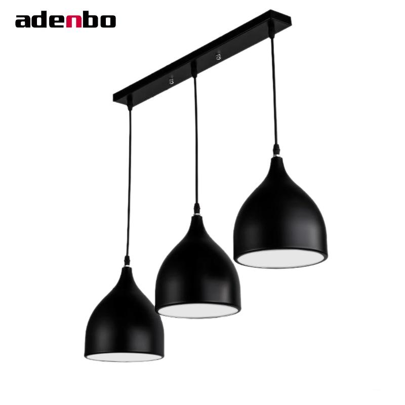 Modern Ceiling Hanging Pendant Lights White Black Loft E27 pendente de luze Aluminum Shade For Simple Style Dining Room Lighting