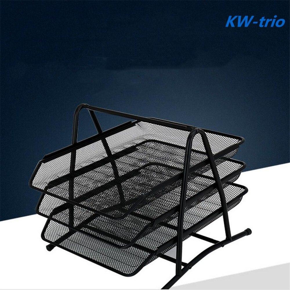 Disque de stockage à trois couches en métal maille fichier disque de stockage de haute qualité durable pratique