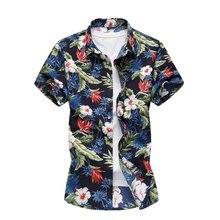 Plus Size 4XL 5XL 6XL 7XL Mens Shirts Summer Men Clothing Short Sleeve Design Fl